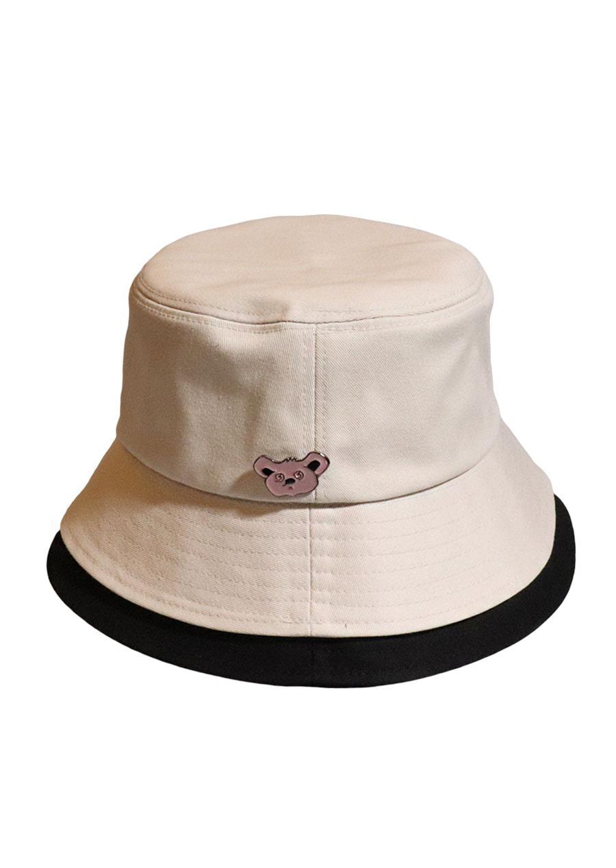 d36c5fae0a8  unisex KOALA BEIGE BLACK BUCKET HAT