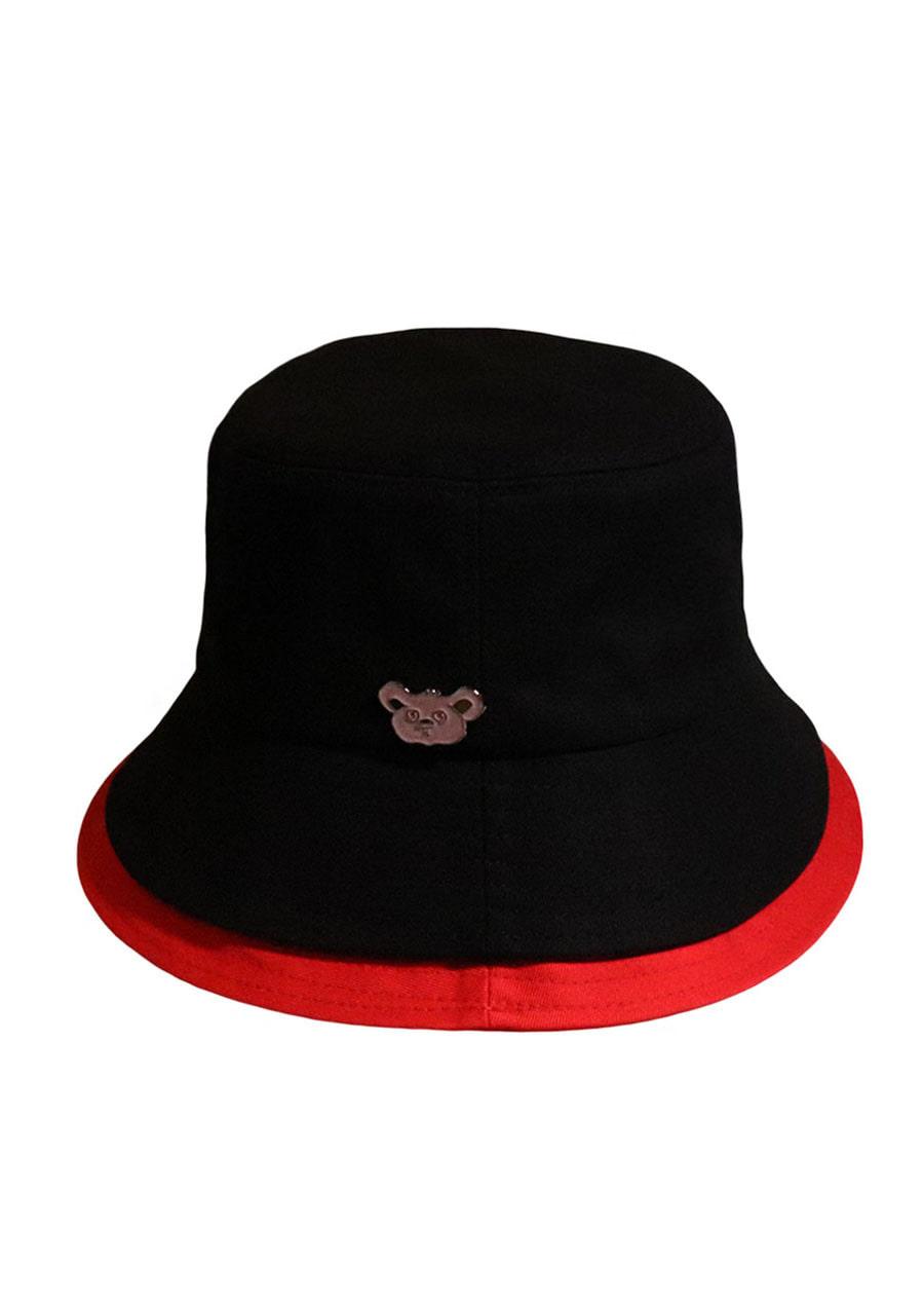 a4bb123a4c0  unisex KOALA BLACK RED BUCKET HAT