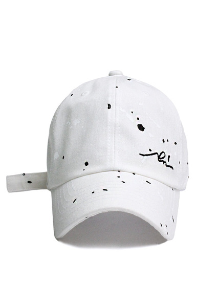 SOLD OUT[unisex]PAINTING SLEEPING WHITE BALL CAP