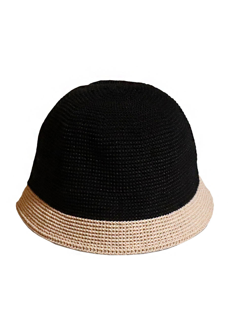 [unisex]BRISBANE BLACK/BEIGE BUCKET HAT