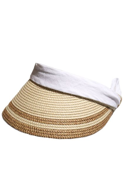 SOLD OUT[unisex]2RIBBON BEIGE SUN VISOR CAP