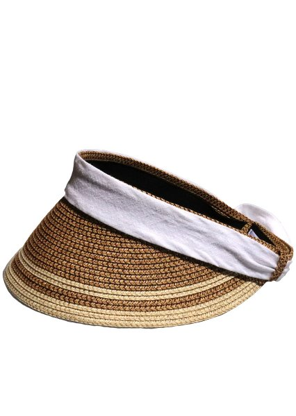 SOLD OUT[unisex]2RIBBON BROWN SUN VISOR CAP