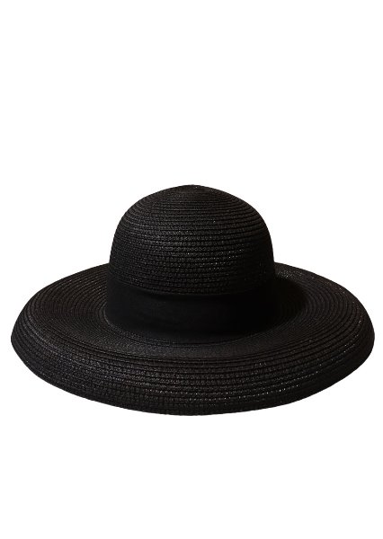[unisex]LORIENT BLACK WIDE RIBBON HAT