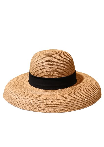 [unisex]LORIENT BROWN WIDE RIBBON HAT